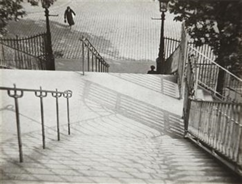 the stairs of montmarte paris by andré kertész