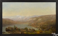 lanscape depicting a lake by frederick a. butman