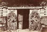 hullabeed, the great temple, southern door in east front by william henry pigou