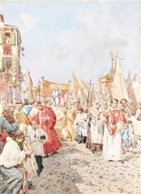 venezia, la processione by giuseppe vizzotto alberti