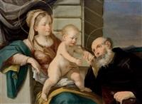 die madonna mit kind und einem heiligen, la madonna con il bambino e un santo by francesco giovanni gessi