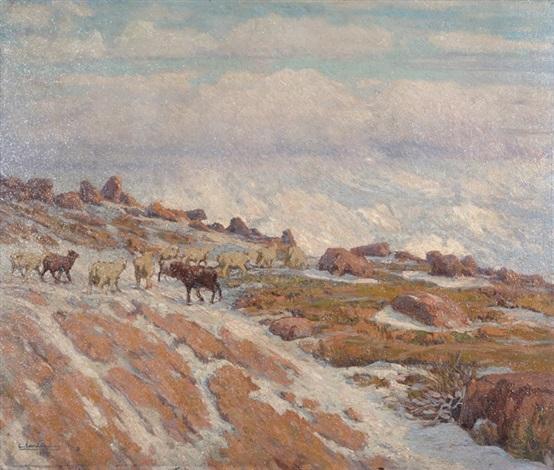 nieve en la cordillera by ceferino carnacini