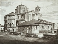 la colegiata, toro and aspiration, la madeleine, verneuil-sur-avre (2 works) by john taylor arms
