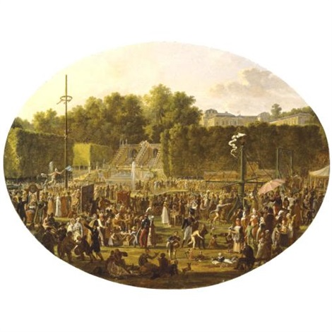 feast in the park of saint cloud by jean charles develly