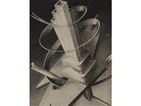 design for new york world's fair by charles sheeler