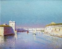 l'entrée du vieux port de marseille by louis nattero