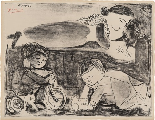 29aa095b855 Les Jeux et la Lecture Games and Reading by Pablo Picasso on artnet