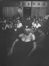 ruthie, nighclub entertainer in des moines, iowa by elliott erwitt