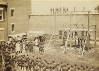thus it be ever with assassins, the hanging of the lincoln conspirators, july 7, 1865 by alexander gardner