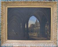 le cloître d'un couvent dominicain au portugal by alexandre raulin