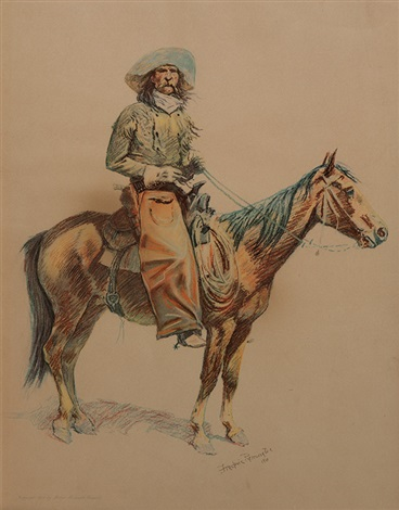 a bunch of buckskins arizona cowboy by frederic remington