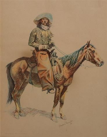 a bunch of buckskins: arizona cowboy by frederic remington