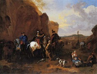 cossacks on horseback asking a kermit for directions by dirk maes