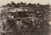monolithe de forme égyptienne, jérusalem by auguste salzmann