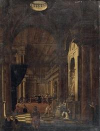 scène de sacrifice dans une architecture by hans jurriaensz van baden