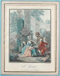 le déjeuner, le gouter, le souper et le dîner (4 works after j. b. huet et p. a. baudouin) by louis marin bonnet