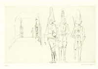 military subjects (7 works) by jean louis boussingault