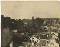 sèvres et ses environs, manufacture, vue de la ville de sèvres prise.. de la manufacture by henri-victor regnault