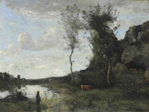 paysage by jean baptiste camille corot