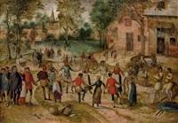 la danse des paysans by jacob grimmer