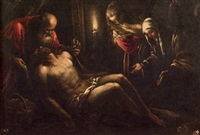 lamentation over the dead christ by francesco bassano the younger
