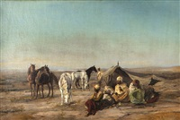 arab encampment by louis comfort tiffany