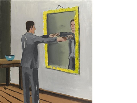 untitled man looking into mirror by christoph ruckhaberle on artnet