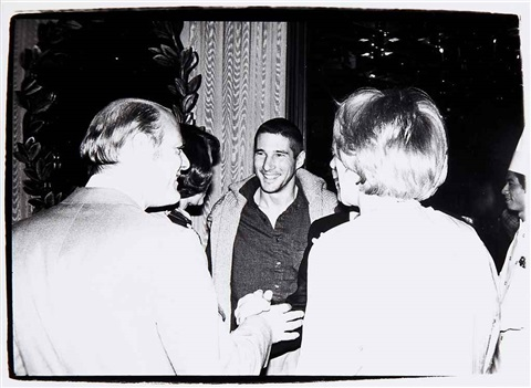 barry diller richard gere and guest by andy warhol