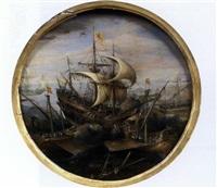 bataille navale by caspar van eyck