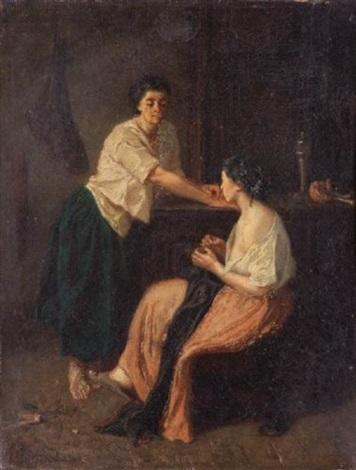 femmes dans un intérieur by francois maurice reynaud