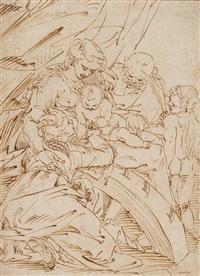 mariage mystique de sainte catherine by luca cambiaso