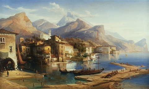 on the italian coast by caspar johann nepomuk scheuren