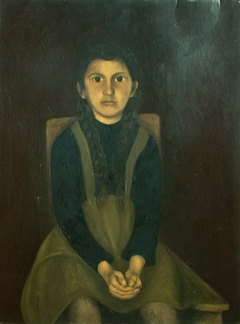 portrait of a young girl by corneliu baba