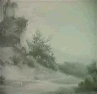 ruine auf steilem felsen bei sierre by alexandre maurice almeras