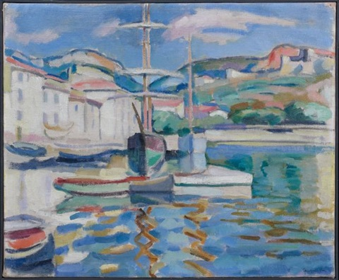 le port de cassis by charles camoin
