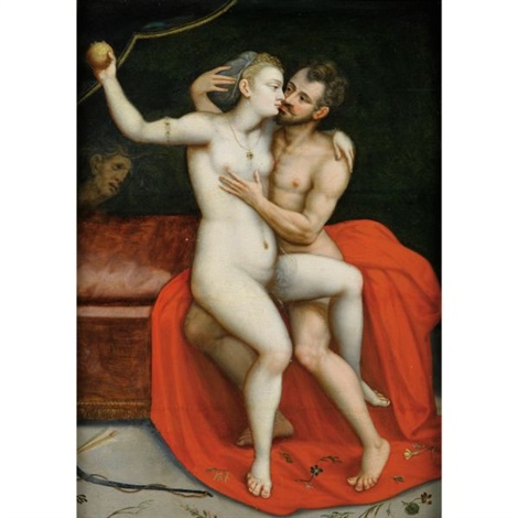 mars et vénus by frans floris the elder