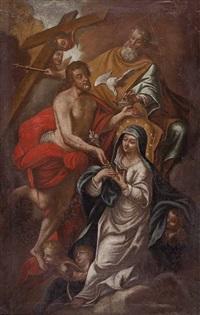 die krönung der jungfrau maria durch die hl. dreieinigkeit by austrian school (17)
