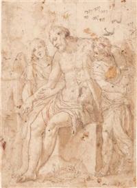 le christ soutenu par deux anges by paolo veronese