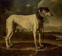 a hound in a landscape by michelangelo di campidoglio