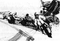 motorcycle race by hal ashmead