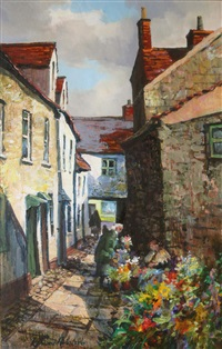 flower seller, galway by kenneth webb