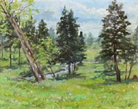 landscape with fir trees by olga (grand duchess) alexandrovna