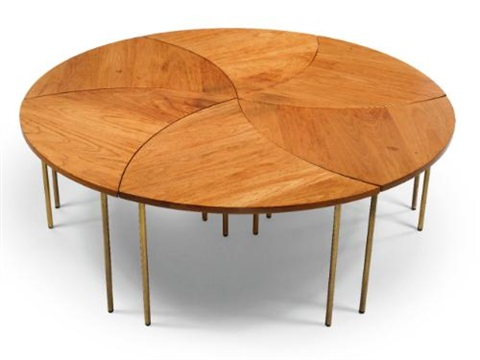 tables model 523 set of 6 by peter hvidt