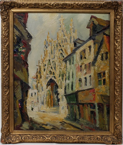 cathedral scene by pierre dumont