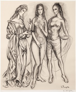 the three graces by léonard tsuguharu foujita