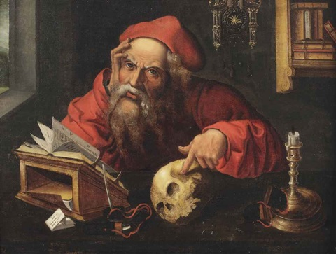 saint jerome in his study by marinus van reymerswaele