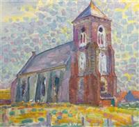 church in zoutelande by piet mondrian