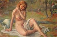 late summer (nude) by robert brackman