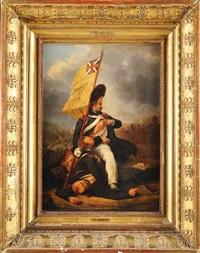 la prise du drapeau à waterloo by nicolas toussaint charlet