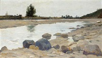 the river bed in summer by carl arp